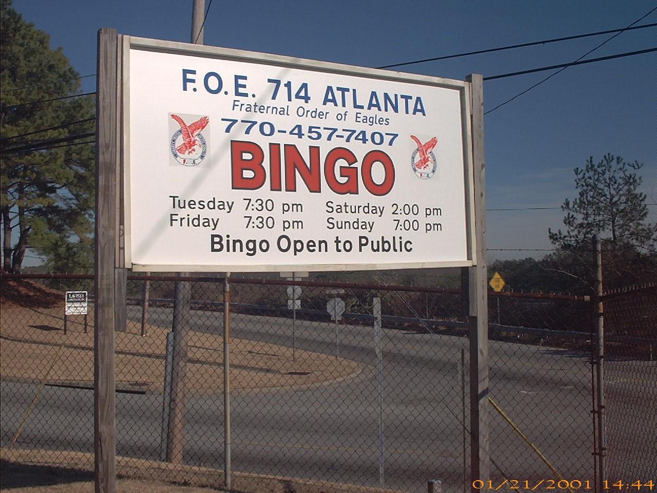 Bingo sign